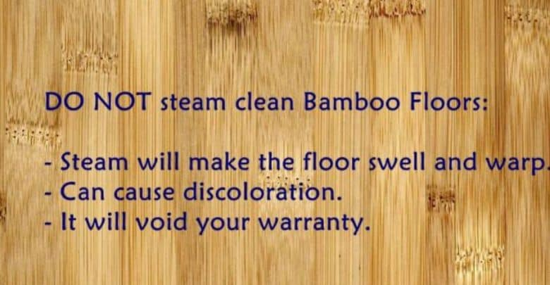Can I Use A Steam Mop On A Bamboo Floor No Here S Why Steam Cleaner Pro
