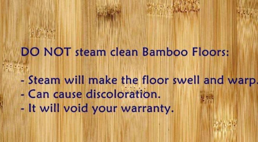 Do Not Steam Mop a Bamboo Floor