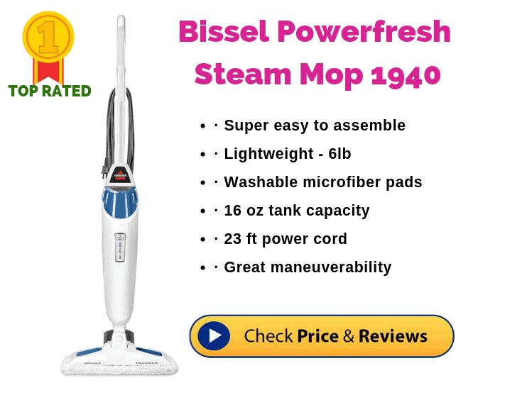 Bissell Powerfresh Steam Mop 1940 for Hardwood Floors
